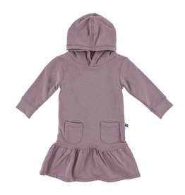 KICKEE PANTS Long Sleeve Fleece Hoodie Dress - Elderberry