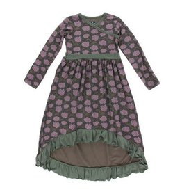 KICKEE PANTS Long Sleeve Hilo Maxi Dress - African Violets