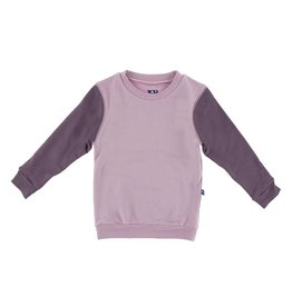 KICKEE PANTS Long Sleeve Sweatshirt - Sweet Pea with Fig