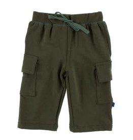 KICKEE PANTS Fleece Cargo Sweatpant - Succulent
