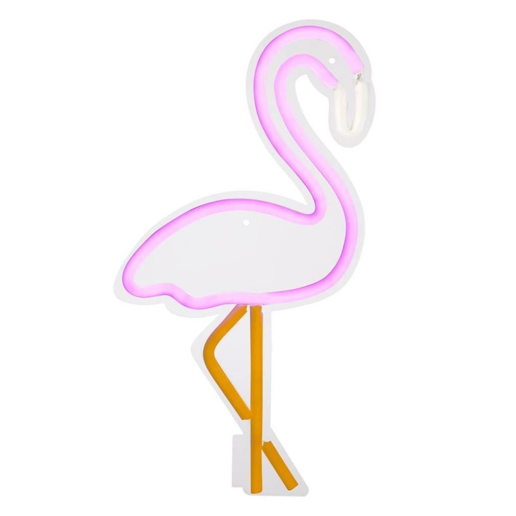 Small Flamingo Neon LED Wall Light