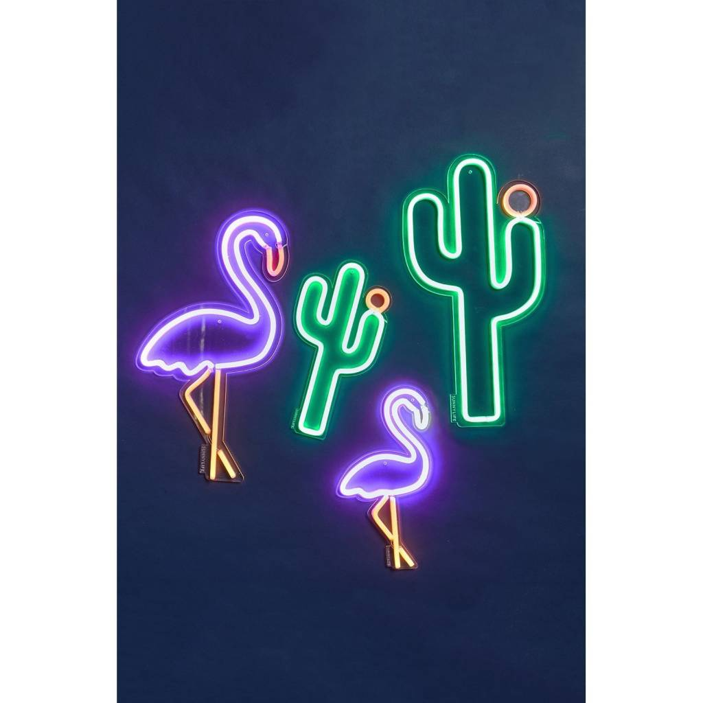 Large Cactus Neon LED Wall Light