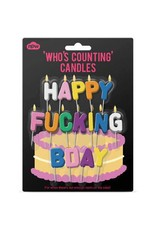 Happy Fucking Bday Candles
