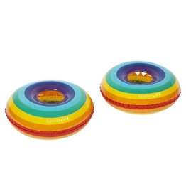 Inflatable Drink Holder Rainbow Set Of 2