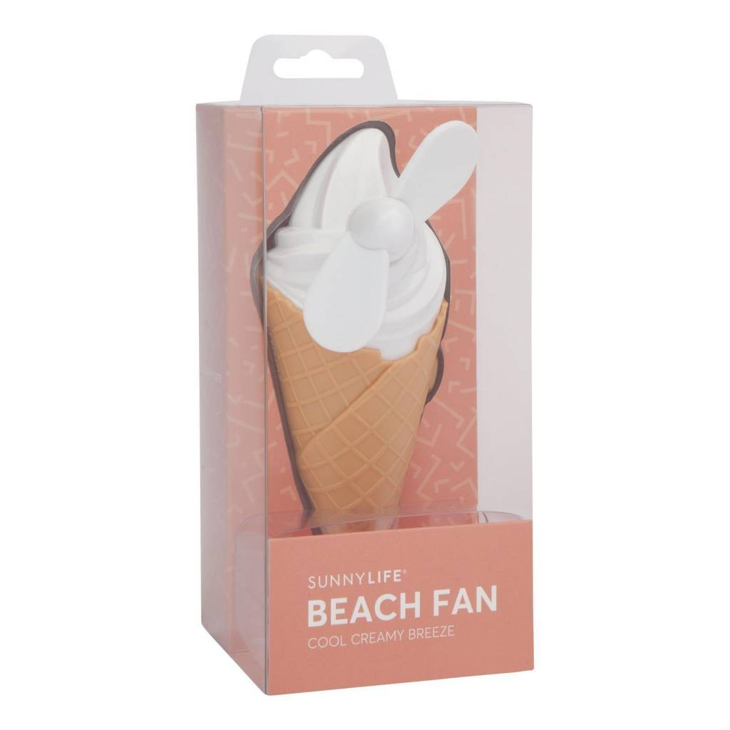 Ice Cream Beach Fan (White)