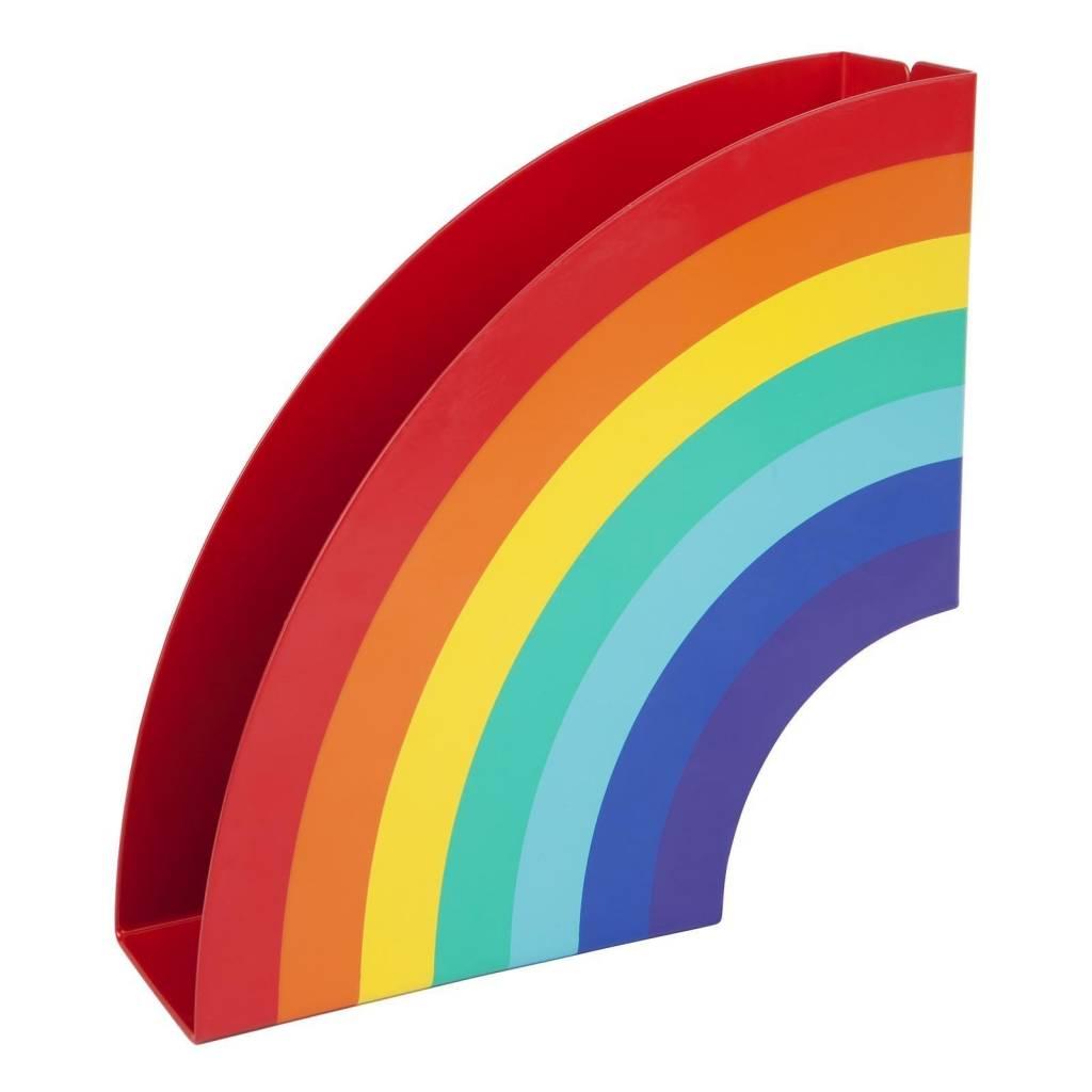 Napkins And Holder Rainbow