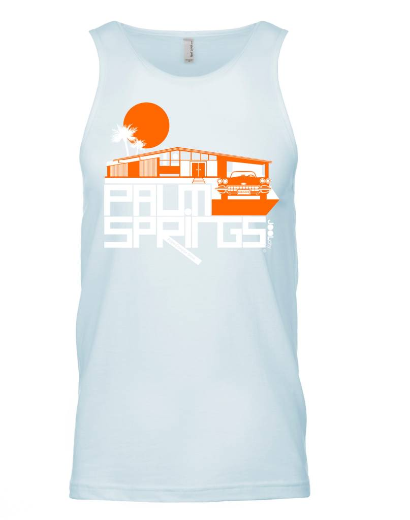 Glam Ranch Ice Blue Men's Tank Top