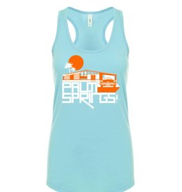 Glam Ranch Cancun Blue Women's Tank Top