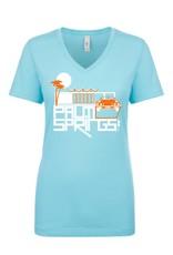 Posh Pad Cancun Blue Women's T-Shirt