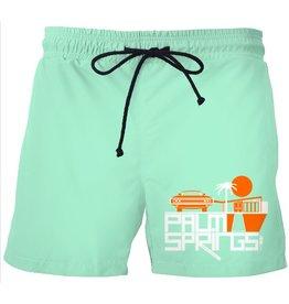 Mod Car Mint Green Men's Swim Trunks