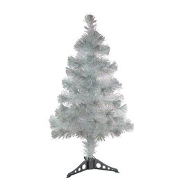 "36"" LED Fiber Optic White Irridescent Tree"