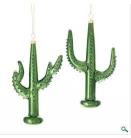 Shiny Glass Cactus Hanging Ornament