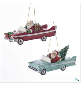 Mid Century Santa Retro Car Ornament