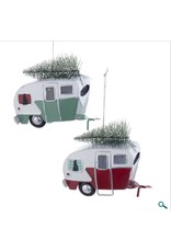 Tin Camping Car With Tree Ornament