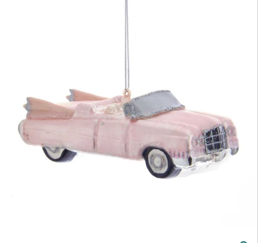 Retro 60's Pink Roadster Ornament