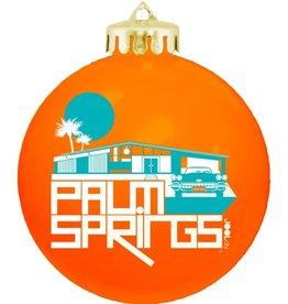 Glam Ranch Orange Ball Ornament