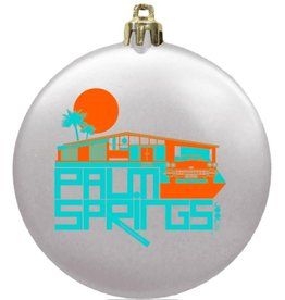 Glam Ranch White Flat Disc Ornament