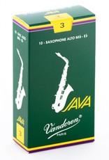 Vandoren JAVA  Green Alto Saxophone Reeds