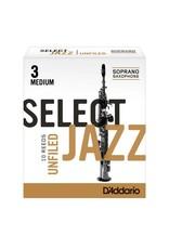 D'addario Select Jazz Unfiled Soprano Saxophone Reeds