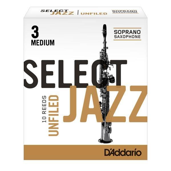 D'addario Select Jazz Soprano Saxophone Reeds