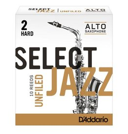 D'addario Select Jazz Unfiled  Alto Saxophone Reeds