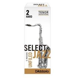 D'addario Select Jazz Tenor Saxophone Reeds