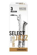 D'addario Select Jazz Baritone Saxophone Reeds