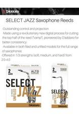 D'addario Select Jazz Unfiled Tenor Saxophone Reeds