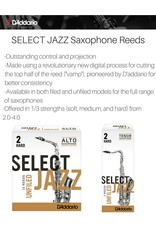 D'addario Select Jazz Unfiled Baritone Saxophone Reeds