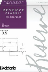 D'addario Reserve Classic Bb Clarinet Reeds