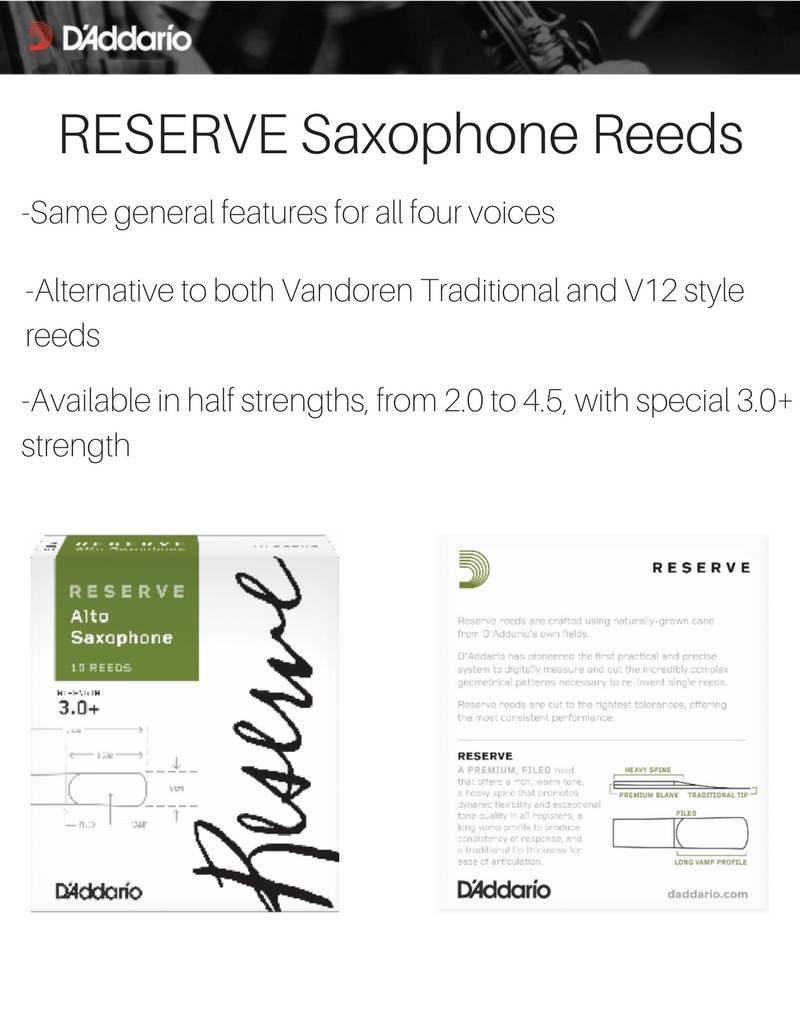 D'addario Reserve Alto Saxophone Reeds