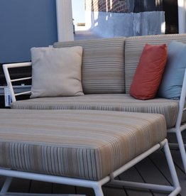 Linear Loveseat and Ottoman