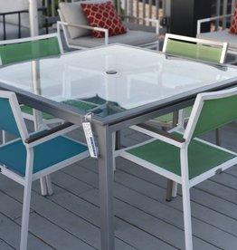 Brown Jordan Swim Dining Table w/ 4 Florence Chairs