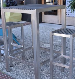 Kannoa Sicilia Square Bar Set 2 Stools 30 x 30