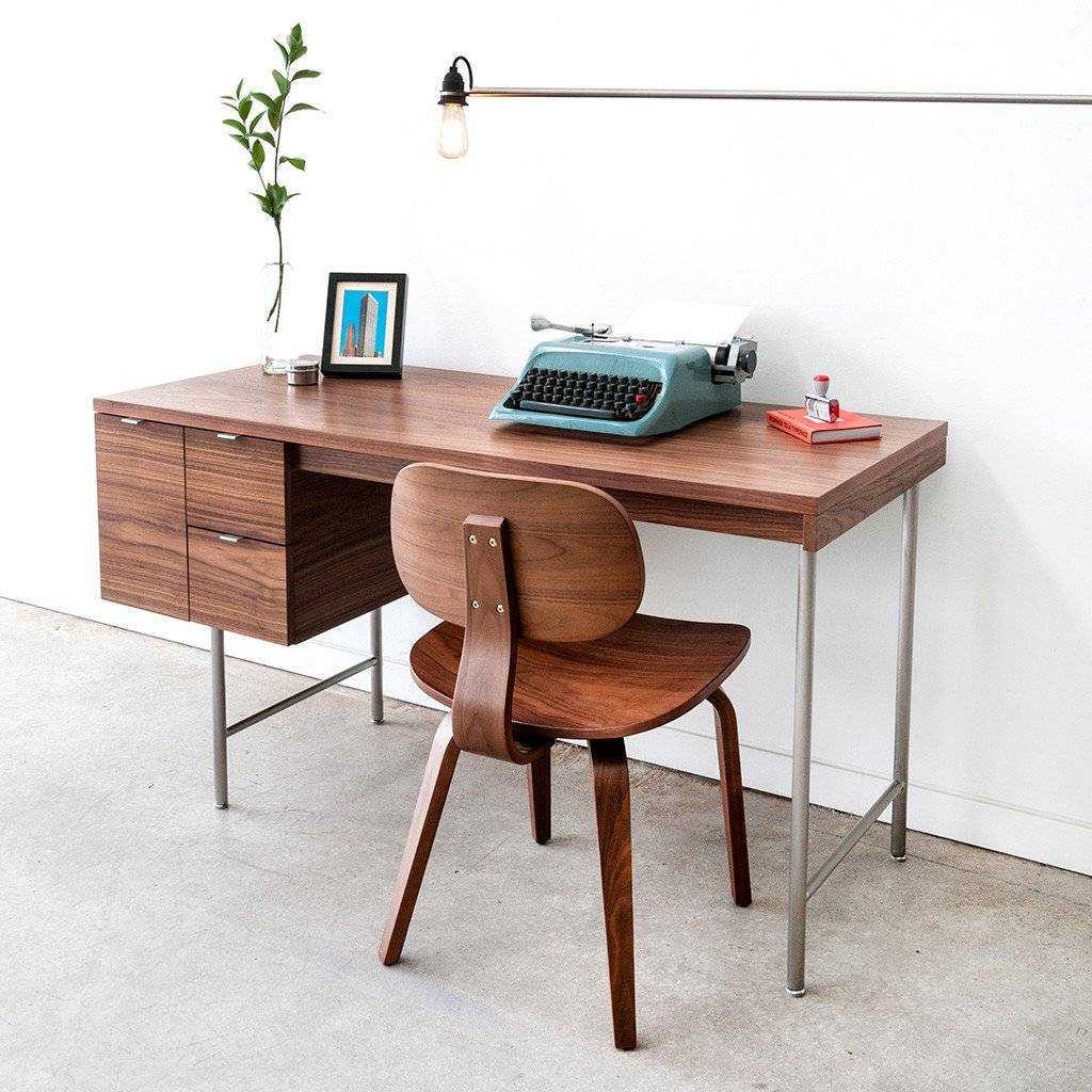 Gus Conrad Desk  Walnut Floor Sample