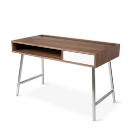Gus Junction Desk  Walnut/White