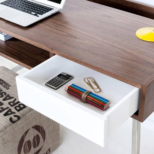 Gus Junction Desk  Walnut/White