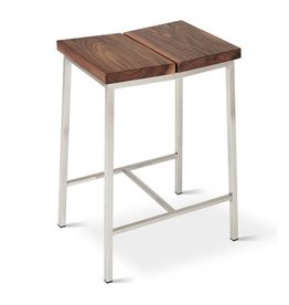 Gus Stanley Stool Solid FSC Ash/Stainless Steel Base