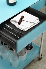 BDI Verra Glass Bar Cart 5640