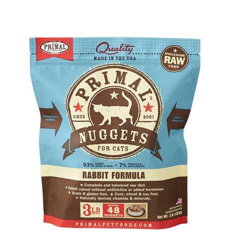 Primal Pet Foods Primal Cat Frozen Rabbit Nuggets 3#