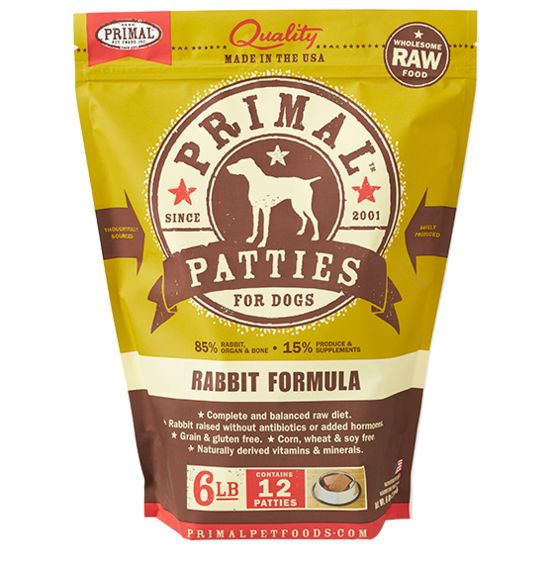 Primal Pet Foods Primal Dog Frozen Rabbit Dog 6#