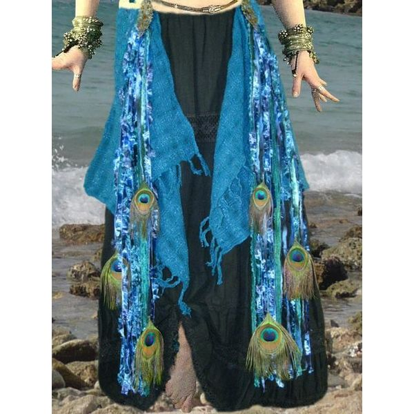 50 % OFF Blue Mermaid Peacock tassel