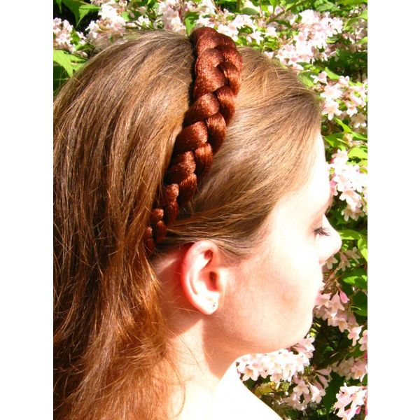 Rustic Braid Headband Gretel, large