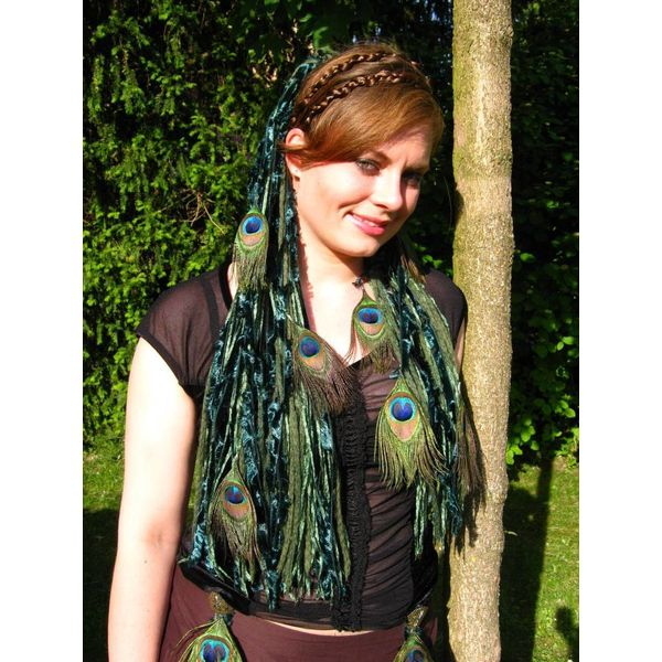Emerald Fairy Peacock Hair