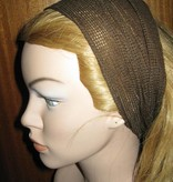Brown net hip & hair scarf