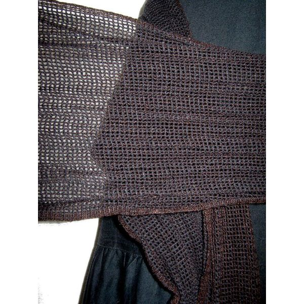 Black-mocca net hip & hair scarf