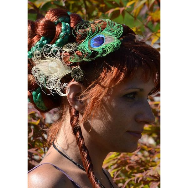 Peacock Fascinators Set