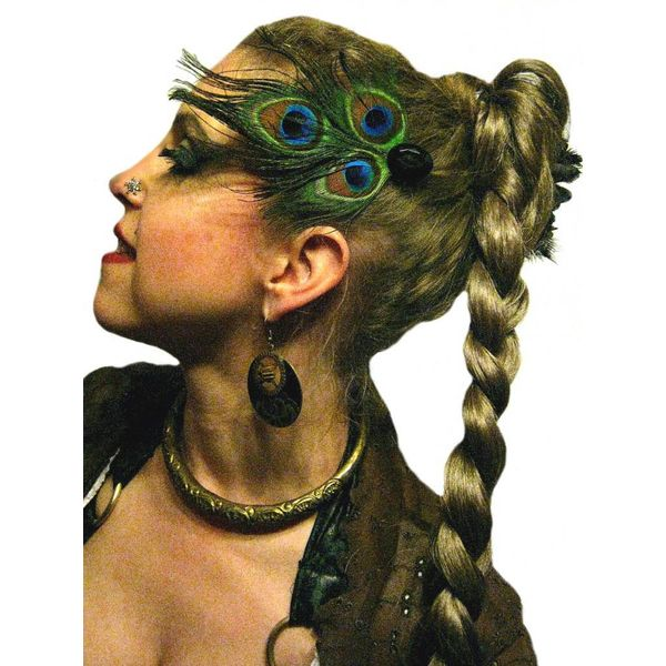 Peacock Tribal Goth Headpiece