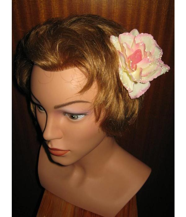 Boho Rose Hair Flowers 2 x apricot