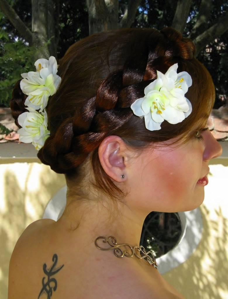 Boho Hair Flowers White Bollywood Belly Dance Hair Jewelry Magic